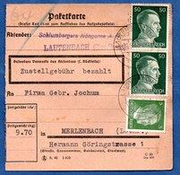 Colis Postal  -  Départ Lautenbach --  24/5/1943 - Germany