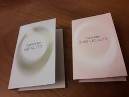 2 Echantillons  Sur Carte Calvin KLEIN **Beauty** Et **Sheer Beauty** - Cartes Parfumées