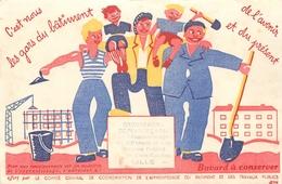 Buvard Ancien TRAVAUX PUBLICS - GROUPEMENT DEPARTEMENTAL - LILLE - Buvards, Protège-cahiers Illustrés