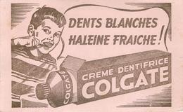 Buvard Ancien DENTIFRICE CREME - COLGATE - Parfums & Beauté