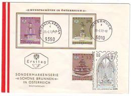 AUSTRIA FDC 1382-1384 - FDC
