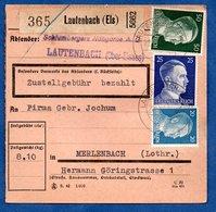 Colis Postal  -  Départ Lautenbach --  24/5/1943 - Allemagne