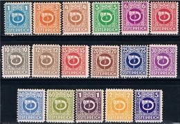 Republik Osterreich, 1945, # 517/33, MH - 1945-60 Neufs
