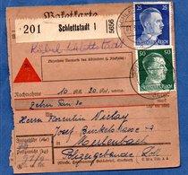 Colis Postal  -  Départ Schlettstadt 1 ( Sélestat ) -  01/3/1943 - Germany