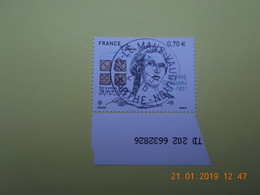 FRANCE 2016   YTN° 5036   240eme ANN.NAISSANCE SOPHIE GERMAIN (1776-1831) Timbre Neuf Oblitéré Cachet Rond Numéroté - France