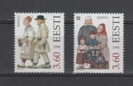 (S1891) ESTONIA, 1998 (Folk Costumes, 5th Issue). Complete Set. Mi ## 330-331. MNH** - Estonia