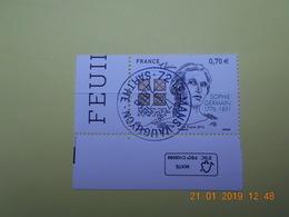 FRANCE 2016 YTN° 5036  240eme ANN.NAISSANCE SOPHIE GERMAIN (1776-1831) Timbre Neuf Oblitéré Cachet Rond  Coin De Feuille - France