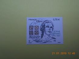 FRANCE 2016 YTN° 5036  240eme ANN.NAISSANCE SOPHIE GERMAIN (1776-1831) Timbre Neuf Oblitéré Cachet Rond - France