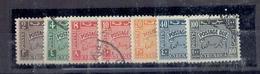 TP TAXE  AFRIQUE CYRENAIQUE - COLONIE ITALIENNE  OCCUPATION BRITANIQUE N°1 à 7 Ob - TTB- 1950 - Timbres