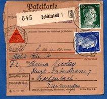 Colis Postal  -  Départ Schlettstadt 1 ( Sélestat ) -  29/03/1943 - Germany