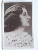 AUTOGRAPHE - DEDICACE - CARTE SIGNEE - MARCELLE GABARRE - Autographs