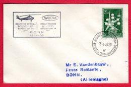 SABENA - Courrier Spécial BRUXELLES Exposition 58 - BONN 15/04/58 - Luchtpost