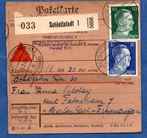 Colis Postal  -  Départ Schlettstadt 1 ( Sélestat ) -  26/2/1943 - Germany