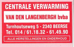Sticker - Centrale Verwarming - VAN DEN LANGENBERGH - Turnhoutseweg Beerse - Autocollants
