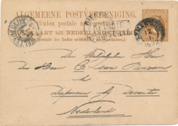 Nederlands Indië - 1892 - 7,5 Cent Willem III Briefkaart G7 Van Semarang Via Marseille Naar KR DIEPENVEEN / Nederland - Nederlands-Indië