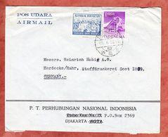 Luftpost, MiF Wahlen U.a., Djakarta Nach Herdecke 1956 (68962) - Indonesia