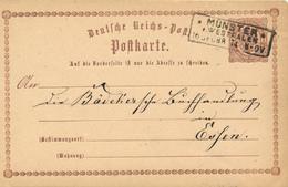 MÜNSTER / WESTFALEN  - 1874 , Ganzsache Nach Essen - Germany