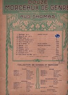 Douze Morceaux De Genre Aug.Thomas BRISE DU SOIR Ernest Gillet Valse Piano Violon Mandoline Arrgt. E.Gandolfo 1892 BE - Partitions Musicales Anciennes