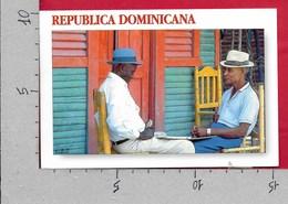 CARTOLINA VG REPUBLICA DOMINICANA - Jugadores De Domino - 10 X 15 - ANN. 2008 - Repubblica Dominicana