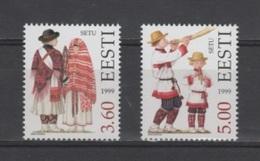 (S1901) ESTONIA, 1999 (Folk Costumes, 6th Issue). Complete Set. Mi ## 354-355. MNH** - Estonia
