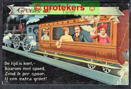 TIJNJE Groeten Uit Fantasie 1909 Mooi Stempel Grootrond GORREDIJK - Nederland
