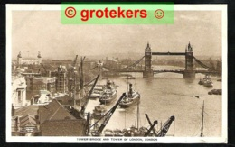 LONDON Tower Bridge And Tower Of London Ca 1936 - Tower Of London