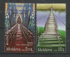 Moldova / Moldau  2018 , EUROPA CEPT Brücken - Postfrisch / MNH / (**) - Moldavie