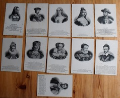 Histoire / Personnages Historiques - 11 CPA - Rois Charles VII & VIII, Louis XII... Agnès Sorel - Etc. - (n°14116) - Histoire
