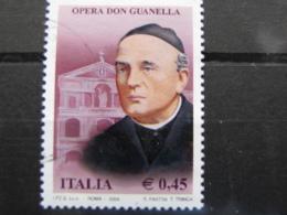 *ITALIA* USATI 2004 - OPERA DON GUANELLA - SASSONE 2783 - LUSSO/FIOR DI STAMPA - 6. 1946-.. Repubblica