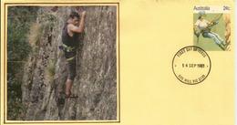Descente En Rappel (alpinisme). Entier Postal D'Australie (Box Hill Victoria) - Escalade