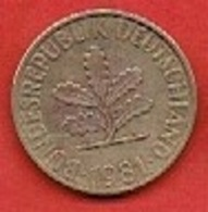 GERMANY # 10 PFENNING FROM 1981 - 10 Pfennig