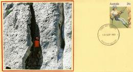 Alpinisme & Descente En Rappel. Entier Postal D'Australie (Oakleigh Victoria) - Timbres