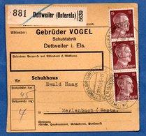 Colis Postal  -  Départ Dettweiler  -21/11/1943 - Lettres & Documents