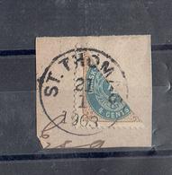 TP CENTRALE ANTILLES DANOISES - N°7a OB - TTB - 1903 - Timbres