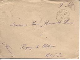 """Env FM """"poste Aux Armées *"""" 1940 Vers Pagny Le Chateau - Marcophilie (Lettres)"""