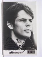 AUTOGRAPHE - DEDICACE - CARTE SIGNEE - GERARD GRAY - Autographes
