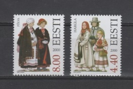 (S1902) ESTONIA, 2000 (Folk Costumes, 7th Issue). Complete Set. Mi ## 378-379. MNH** - Estonia