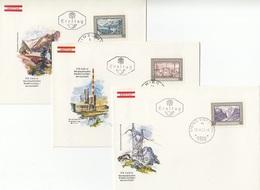 AUSTRIA FDC 1389-1391 - FDC