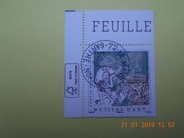 FRANCE 2016 YTN° 5040  SCULPTEUR SUR PIERRE  Timbre Neuf Oblitéré Cachet Rond  Coin De Feuille - France