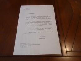 PIERRE MOREL  PRESIDENCE DE LA REPUBLIQUE FRANCOIS MITTERRAND TAPUSCRIT SIGNE  KYRA BODART DIPLOMATIE  10 JANVIER 1991 - Autographs