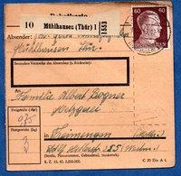 Colis Postal  -  Départ Mühlhausen  --  13/12/1943 - Germany