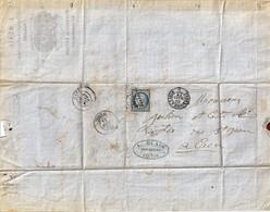 14 FALAISE MARS 1872 CACHET TIMBRE L BLAIS VOITURE DE ROULAGE - France