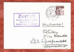 Postkrieg, Drucksache, EF Dresden, SoSt Berlin, DDR-Zurueckstempel, Nach Greifswald 1969 (68967) - Covers & Documents