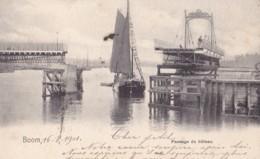 Boom Passage Du Bateau Nels Série 52 N° 40  Circulée En 1901 - Boom