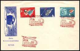 4161/ Espace (space) Lettre Non Dentelé Imperf 12/4/1964 VIOLET Gagarin Gagarine Cosmonautics Day Russie (russia Urss) - Lettres & Documents