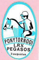 Sticker - PONYTORNOOI - L.R.V. PEGASOS Mol Achterbos - Autocollants