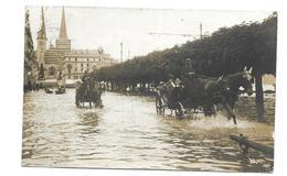 SUISSE... Carte Postale Photo De LUZERN ( LUCERNE).. Inondations De 1910..Attelage, Fiacre...2 Scans - LU Luzern