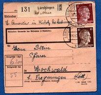 Colis Postal  -  Départ Lörchingen  --18/12/1942 - Lettres & Documents