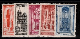Cathedrales YV 663 à 667 N** Cote 5 Euros - France
