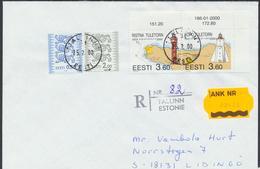 58-248 Estonia Ristna Kõpu Lighthouse FDC 25.02.2000 Recommande From Post - Estonia